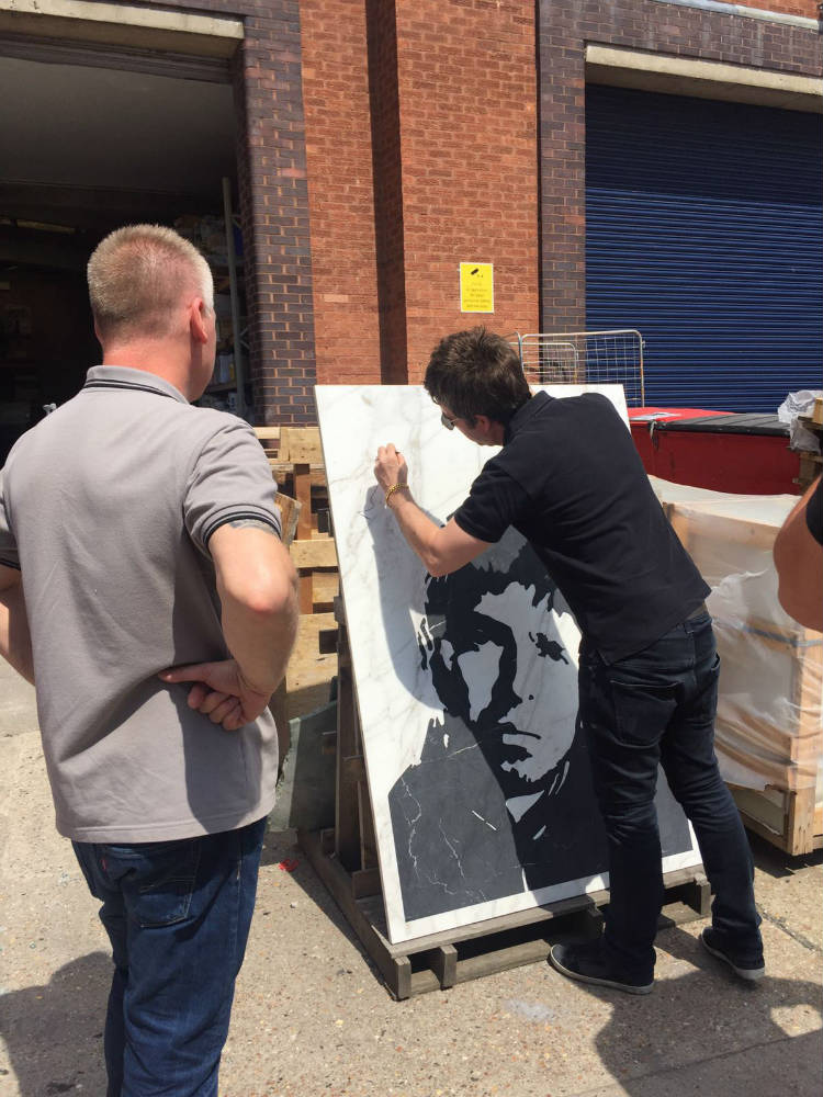 Noel Gallagher Commissioned Piece Signature